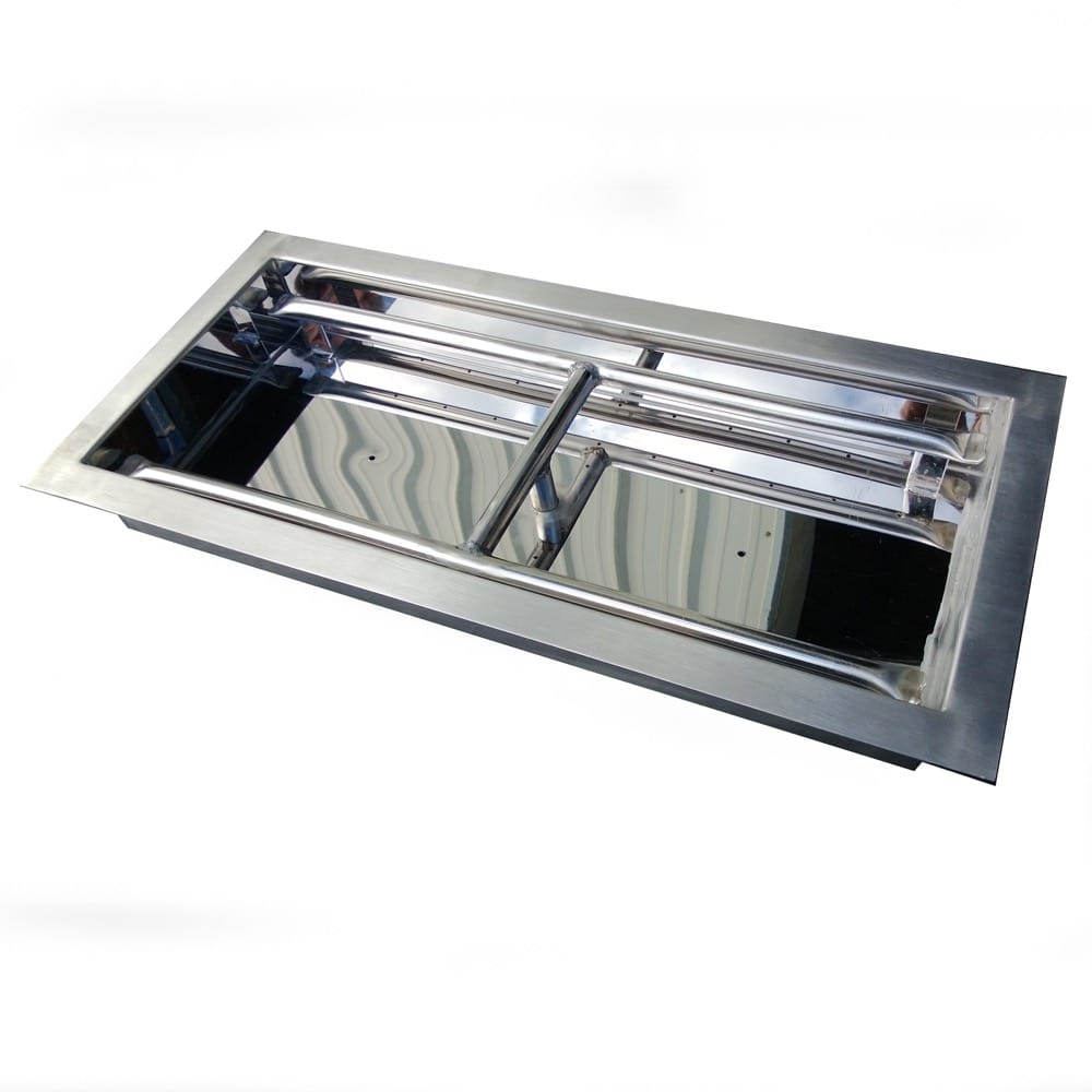 30 inch Stainless Steel Drop-In Rectangular Burner - DR-B-DIH-30