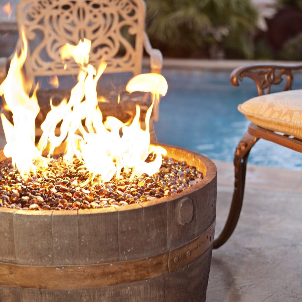 Tretco Wine Barrel Fire Pit- Rust Finish - DR-FP-C10-13