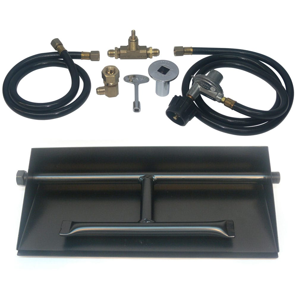 Dreffco 32 Inch Powder Coated Dual Burner Pan Kit Lp For