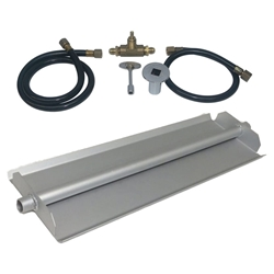 18 inch Powder Coated Linear Burner Pan Kit NG for Fire Pit / Portable Tank Connection