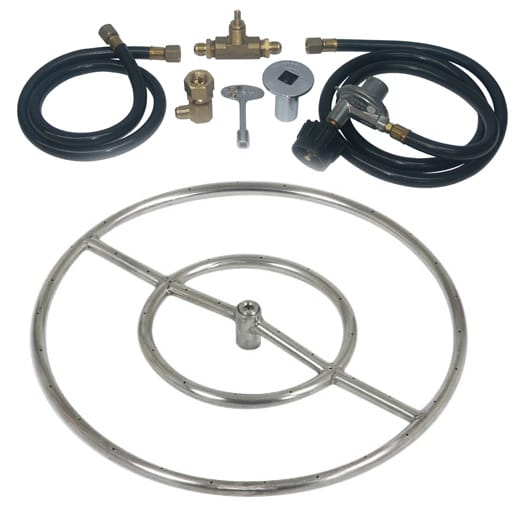 24 inch Stainless Steel Ring Kit LP for Fire Pit / Portable Tank Connection
