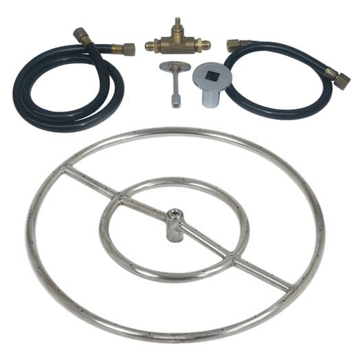 24 inch Stainless Steel Ring Kit NG for Fire Pit / Portable Tank Connection