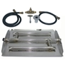 17 inch Stainless Steel Triple Xtra Flame Burner Kit NG for Fire Pit / Portable Tank Connection